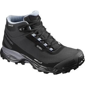 Salomon W s Shelter Spikes CS WP Shoes Black Black Windy Blue 27af25179861c